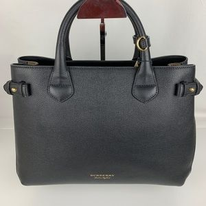 Burberry Banner House Check Leather Tote 4023693